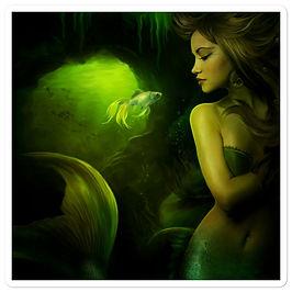 """Stickers """"The Mermaid"""" by ElenaDudina"""
