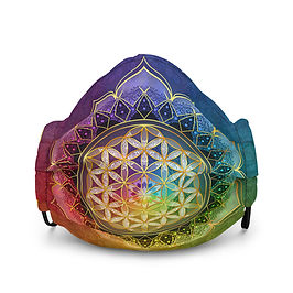 """Mask """"Rainbow Flower of Life"""" by Lilyas"""