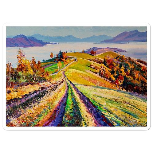 """Stickers """"Autumn Morning"""" by Gudzart"""