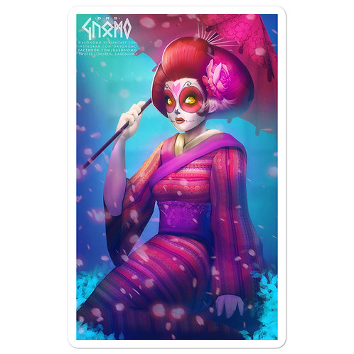 "Stickers ""Geisha Catrina"" by DasGnomo"