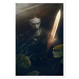 """Stickers """"Lady of the Lake"""" by JeffLeeJohnson"""