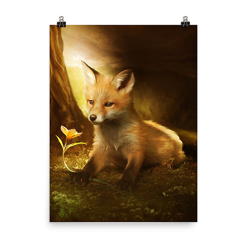 """Poster """"Little Fox and the flowers"""" by ElenaDudina"""
