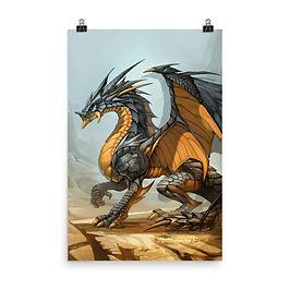 """Poster """"Ash Dragon"""" by el-grimlock"""