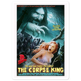 """Stickers """"The Corpse King"""" by JeffLeeJohnson"""