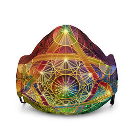 """Mask """"Rainbow Metatron's Cube"""" by Lilyas"""