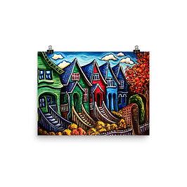 "Poster ""Kitsilano Neighbourhood"" by LauraZee"