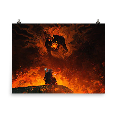 """Poster """"The Shadow and the Flame"""" by Anatofinnstark"""