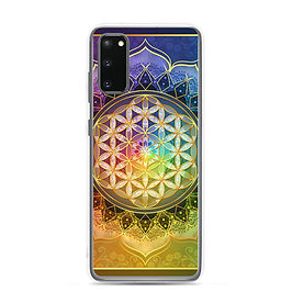 """Samsung Case """"Rainbow Flower of Life"""" by Lilyas"""