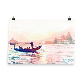 """Poster """"Canale Grande Vinezia"""" by Takmaj"""