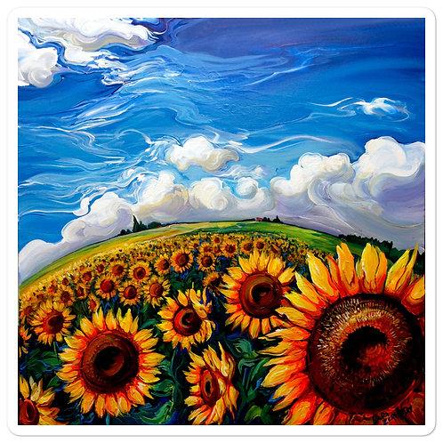 """Stickers """"Sunflower World"""" by LauraZee"""