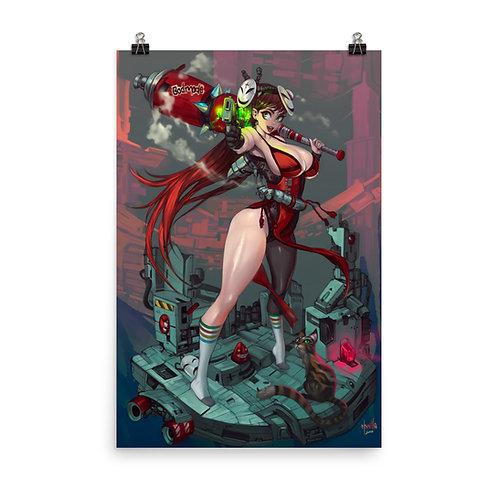 """Poster """"Red Guilt"""" by Elsevilla"""