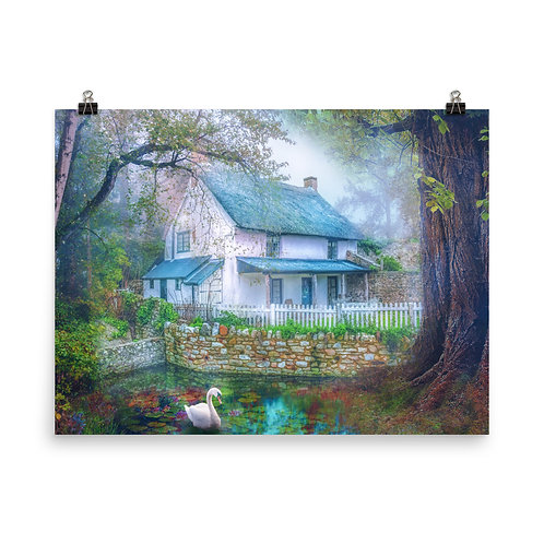 """Poster """"Country Cottage"""" by phatpuppyart-studios"""