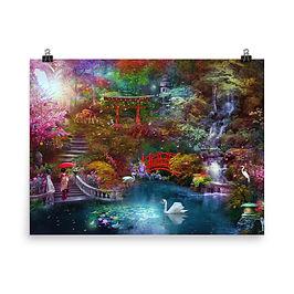 "Poster ""My Japanese Garden"" by phatpuppyart-studios"
