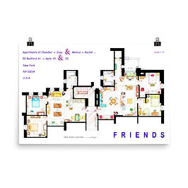 """Poster """"Friends"""" by NikNeuk"""