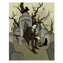 """Stickers """"Edgar Allen Poe"""" by AbigailLarson"""