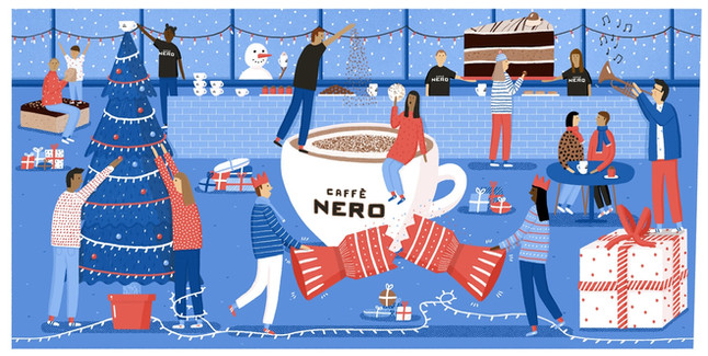 Cafe Nero christmas cup design