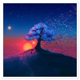 """Stickers """"Just a Tree and a Breeze"""" by JoeyJazz"""