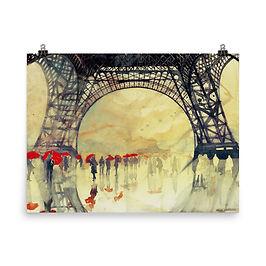 "Poster ""Winter in Paris"" by Takmaj"