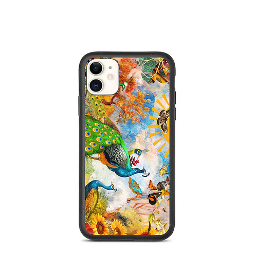 "iPhone case ""Peacock Garden"" by phatpuppyart-studios"