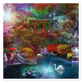"Stickers ""My Japanese Garden"" by phatpuppyart-studios"