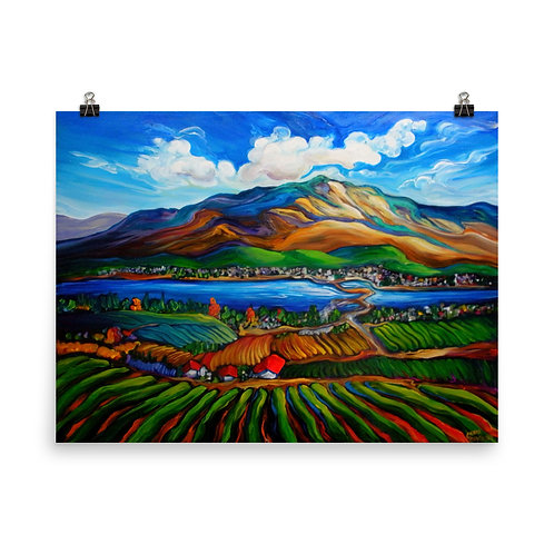 """Poster """"Osoyoos Vineyards"""" by LauraZee"""