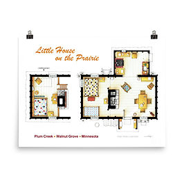 """Poster """"Little House on the Prairie"""" by NikNeuk"""
