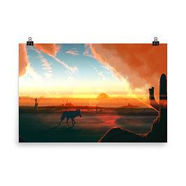 """Poster """"Sound of Desert"""" by JoeyJazz"""