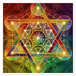 "Stickers ""Rainbow Metatron's Cube"" by Lilyas"