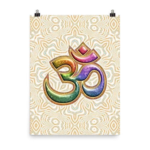 "Poster ""Sacred Sound Om Aum Mantra"" by Lilyas"