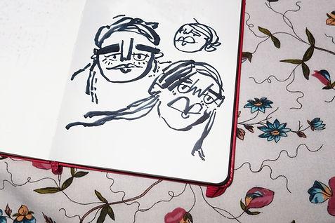 Hand-drawn art by Amber Vittoria