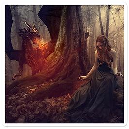 "Stickers ""The Dragon Tamer"" by phatpuppyart-studios"