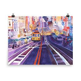 """Poster """"San Francisco"""" by Takmaj"""