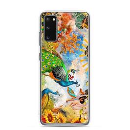 """Samsung Case """"Peacock Garden"""" by phatpuppyart-studios"""