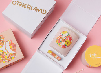 Candle design for Otherland by Artist Amber Vittoria