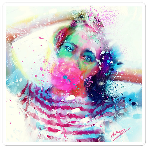 "Stickers ""Bubble Yum"" by phatpuppyart-studios"