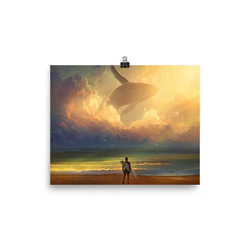 """Poster """"Waiting for the Wave"""" by RHADS"""