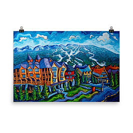 """Poster """"Whistler Village"""" by LauraZee"""