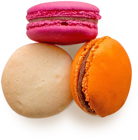 3 colorful macaroons