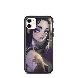 "iPhone case ""Purple Sad"" by Elsevilla"