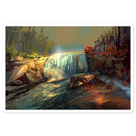 """Stickers """"Whitney Falls"""" by chateaugrief"""