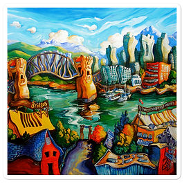 """Stickers """"Granville Island"""" by LauraZee"""