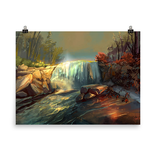 """Poster """"Whitney Falls"""" by chateaugrief"""