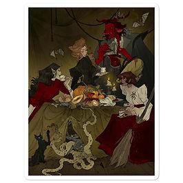 "Stickers ""Bewitching Banquet"" by AbigailLarson"