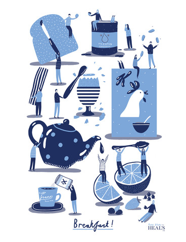 Screenprinted Tea Towel for Heals