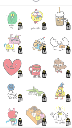 Apple iMessages stickers