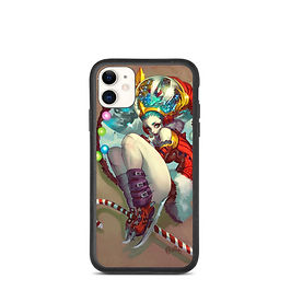 "iPhone case ""Purple Girl"" by Elsevilla"