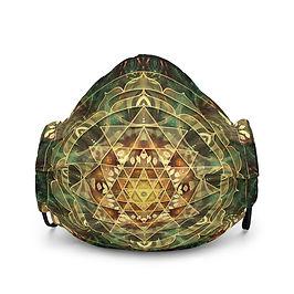 """Mask """"Sri Yantra Healing Mandala"""" by Lilyas"""