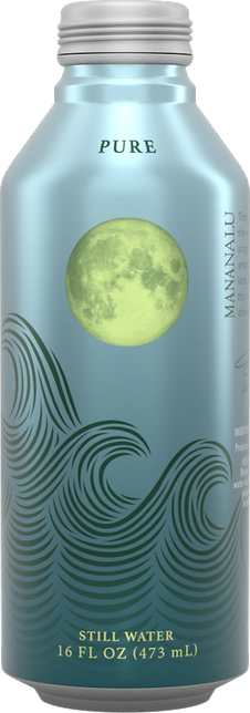 Purified water in Mananalu's aluminum cans is a solution to plastic pollution.