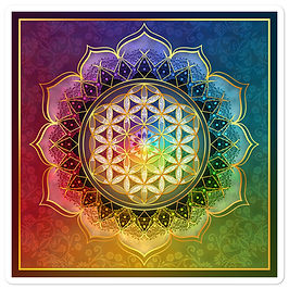 """Stickers """"Rainbow Flower of Life"""" by Lilyas"""