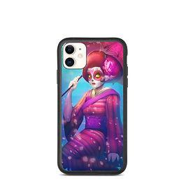 "iPhone case ""Geisha Catrina"" by DasGnomo"